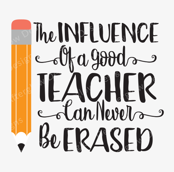"""Influence of a Good Teacher Can Never Be Erased"" Artwork"