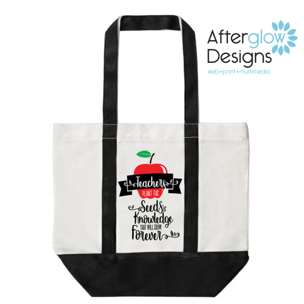 Seed of Knowledge on Black Tote Bag