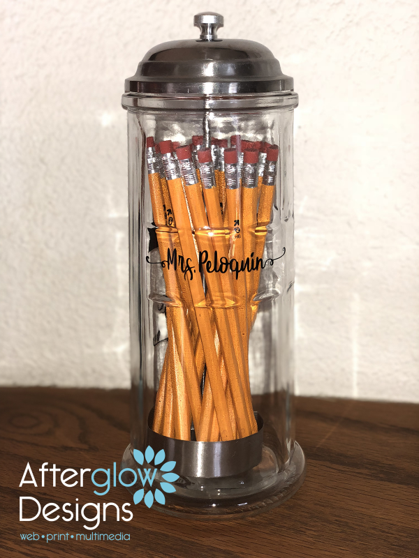 Seed of Knowledge on Pencil Dispenser Back Personalized