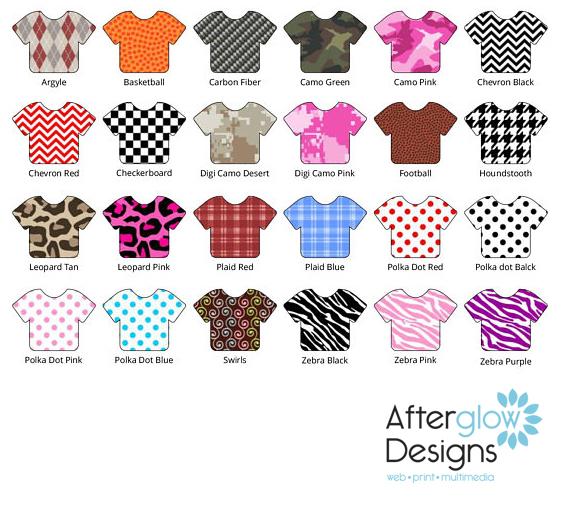 Siser Patterns Color Chart