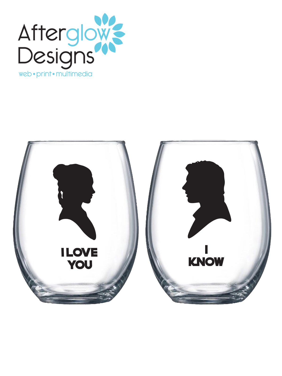 "Princess Leia and Han Solo ""I Love You 