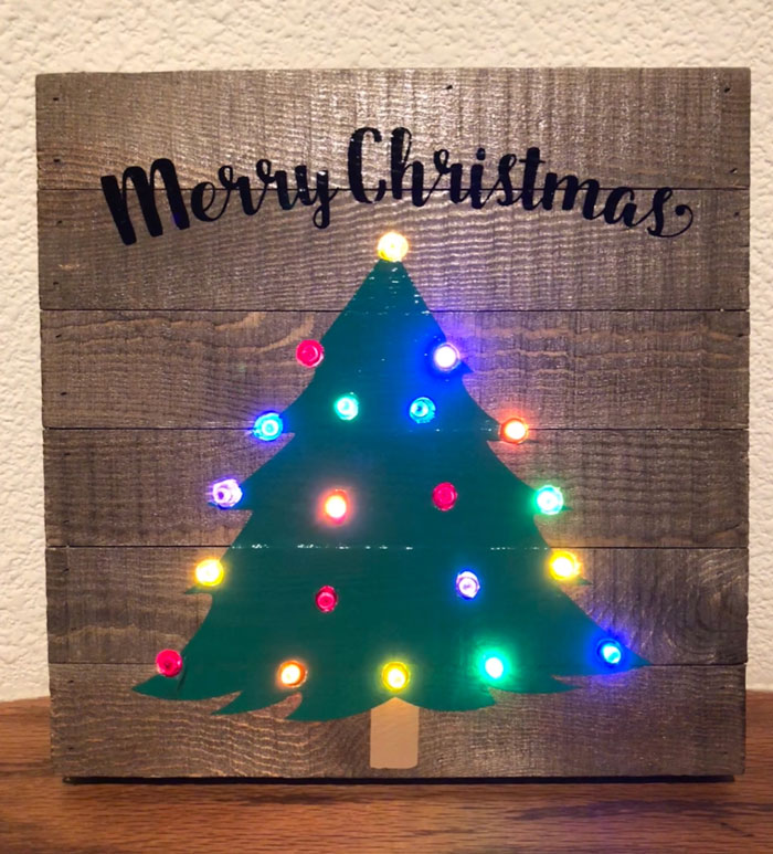 Christmas Tree Light Up Sign