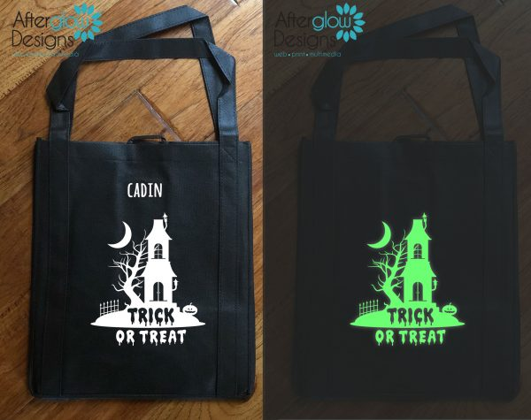 "Trick or Treat Bag - Glow in the Dark ""Haunted House"""