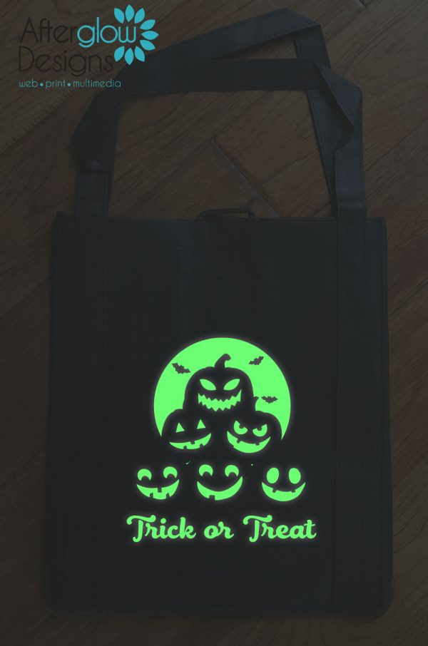 "Trick or Treat Bag - Glow in the Dark ""Pumpkins"""